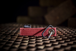 Key Ring Canvas Red