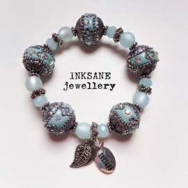 Kashmiri Armband - Blauw (Licht)
