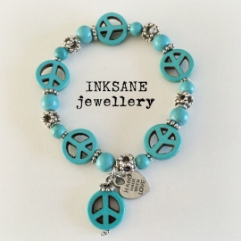 Peace - Vrede Armband - Turquoise