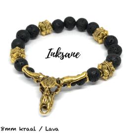 Stierenkop Armband - Zwart/Goudkleur