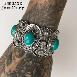 Ibiza Look Armband Turquoois - Turquoise