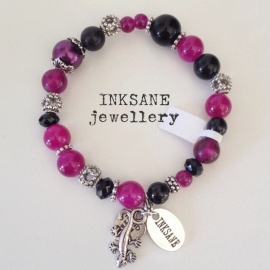 Mix & Match Armband - Roze (Cyclaam)/Zwart