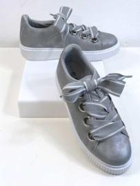 Sneakers met Linten - Grijs