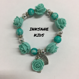 Kinder Armband Roos - Turquoise