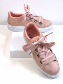 Sneakers met Linten - Roze