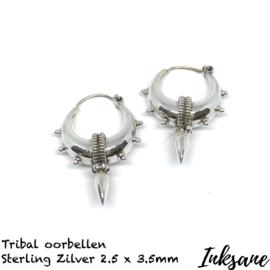 Oorbellen Tribal van Sterling zilver