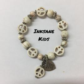 Kinder Armband Vrede - Creme