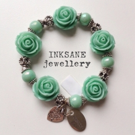 Roos Armband - Groen (Donker Mint)