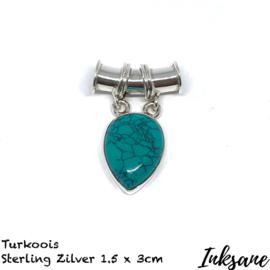 Hanger van Sterling zilver met Turkoois
