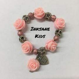 Kinder Armband Roos - Licht Roze