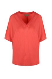 T-shirt - Koraalrood