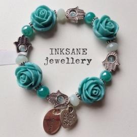 Roos/Fatima Hand Armband - Turquoise