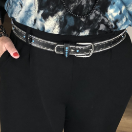 Riem  - Zwart/Turquise/Zilverkleur