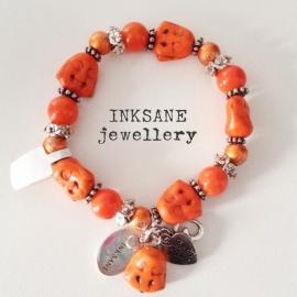 Boeddha Armband - Oranje