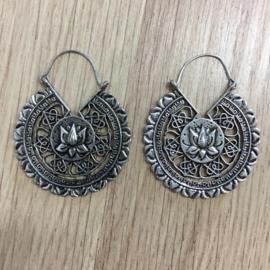 Oorbellen Mandala - Zilverkleurig