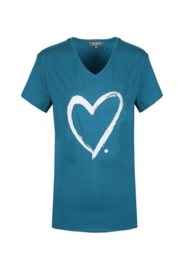 T-shirt Hart - Turquoise