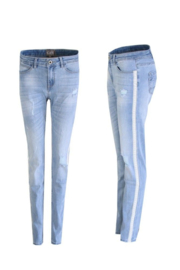 C&S Jeans Vintage kant - Lichtblauw