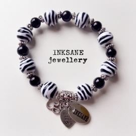 Zebra Print Armband - Zwart/Wit