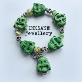Boeddha Groot  Armband - Groen
