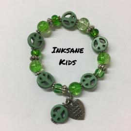 Kinder Armband Vrede - Groen