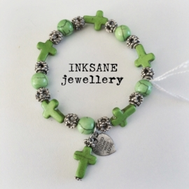 Kruis Armband - Groen