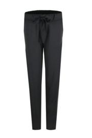 C&S Jogger Pantalon / Zwart met Witte bies