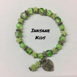 Kinder Armband Bloem - Groen