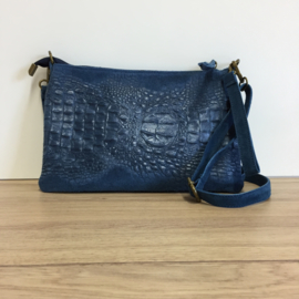 Kroko Tas - Jeansblauw