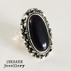 Ring - Zwart/Zilverkleur
