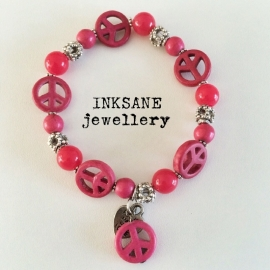 Peace - Vrede Armband - Roze