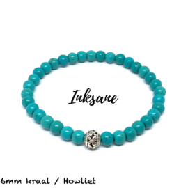 Natuursteen Armband Howliet / Turquoise