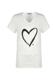 T-shirt Hart - Creme