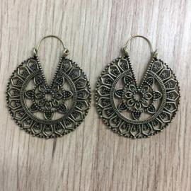 Oorbellen Mandala - Bronskleurig