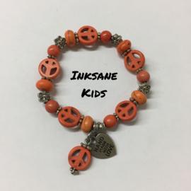 Kinder Armband Vrede - Oranje