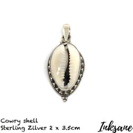 Hanger van Sterling zilver met een Cowrie schelp