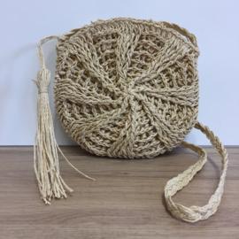 Ronde Rotan Bag / Naturel