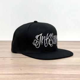 Inksane Cap - Zwart/Witte letters