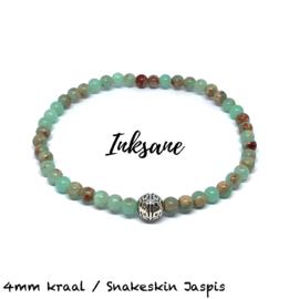 Natuursteen Armband Snakeskin Jaspis / Zeegroen