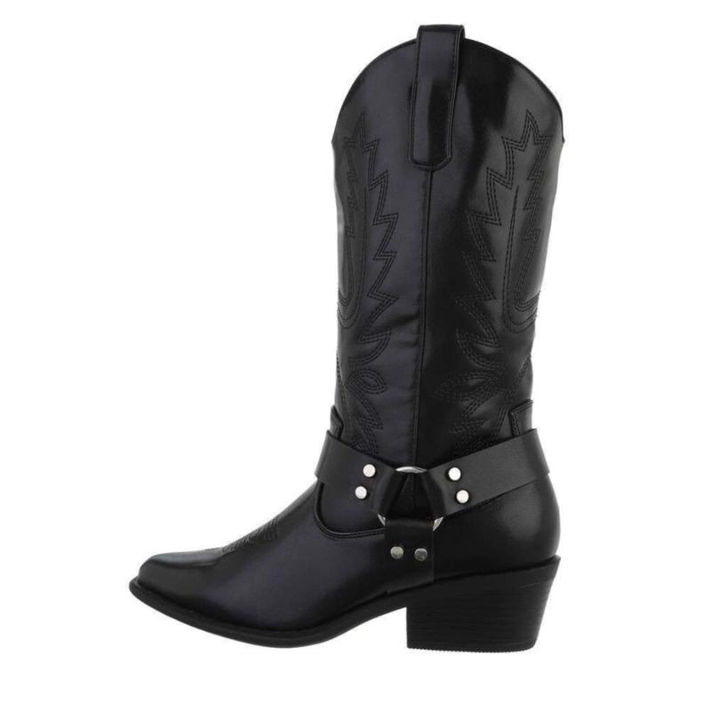 Cowboy Laarzen - Zwart