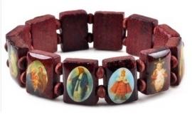 Religieus houten armbandje