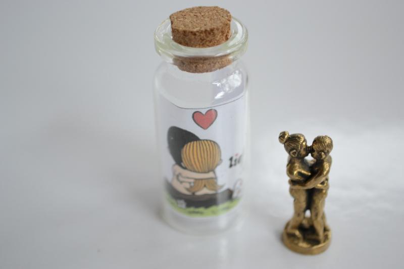 Lovers in miniflesje van koper