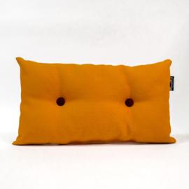Knopen kussen - Oranje