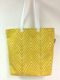 Shopper - Visgraat geel