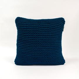 Hoooked kussen - Donker blauw