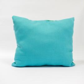 Puzzelkussen - Groen/blauw