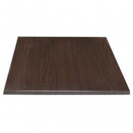 Tafelblad vierkant 70x70cm donkerbruin BHgg639