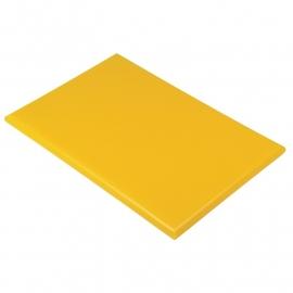 Snijplank geel 25 mm dik