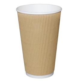 Fiesta koffiebeker ribbelwand kraft 455ml
