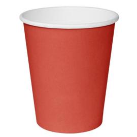 Fiesta Hot Cups met enkelvoudige wand rood 23cl x1000