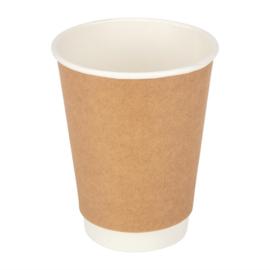 Fiesta koffiebekers dubbelwandig kraft 340ml